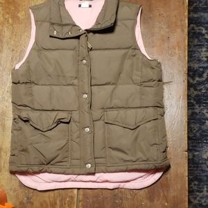 Women's JCrew down vest sz m